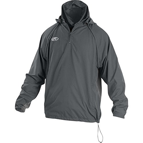 Rawlings Sporting Goods Mens Adult Jacket W Removable Sleeves & Hood, Graphite, Small by Rawlings