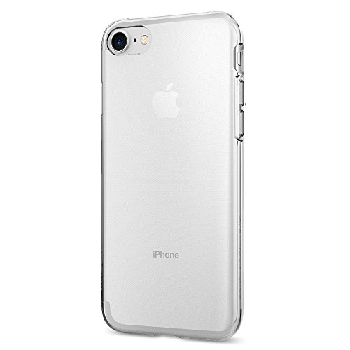 iPhone 7 Hülle, Spigen® [Liquid Crystal] Ultra Dünn [Crystal Clear] Transparent Soft-Flex Handyhülle / Bumper-Style Premium-TPU Silikon / Perfekte Passform / Durchsichtige Schutzhülle für iPhone 7 Case, iPhone 7 Cover - Crystal Clear (042CS20435)