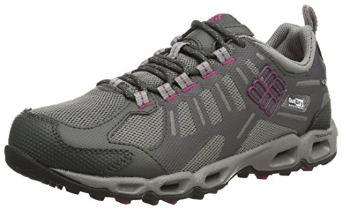 Columbia VENTFREAK OUTDRY - zapatillas de trekking y senderismo de material sintético mujer gris - Grau (Grill/Deep Blush 028)