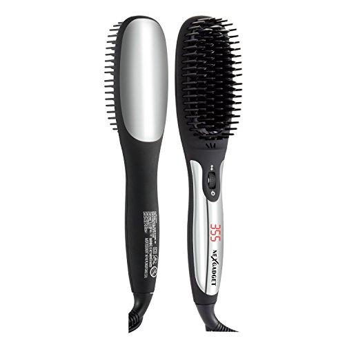 NEXGADGET Ionic Hair Straightening Brush with  MCH heating technology ,Professional Heated Ceramic Straightener Comb,Anion spray, Anti-Scald Comb Teeth by NEXGADGET