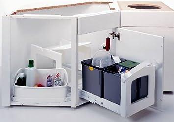 abfallsammler dreifach getrennt 1 x 18 liter und 2 x 8 liter domo ... - Abfalleimer Küche Einbau