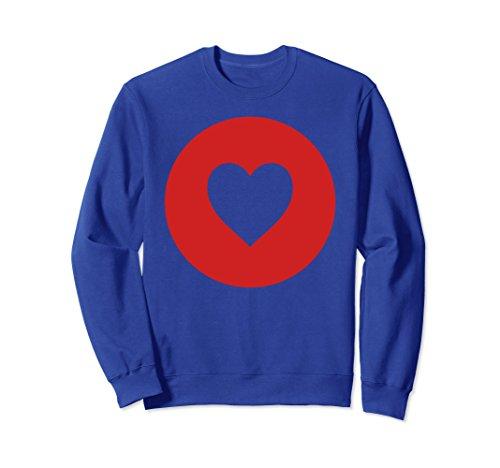 Unisex Valetines Day Heart Cutout Sweatshirt Hoodie Large Royal - Valetines Day Ideas
