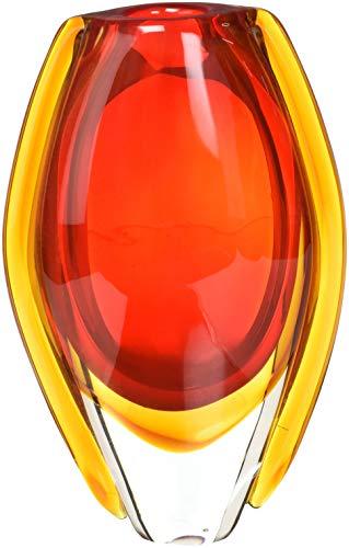 Sunfire Glass Vase - Accent Plus 12117 Sunfire Glass Vase, Multicolor
