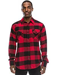 Hipster Hip Hop Plaid Flannel Longline Button Up Checkered Shirts, Size upto 4XL