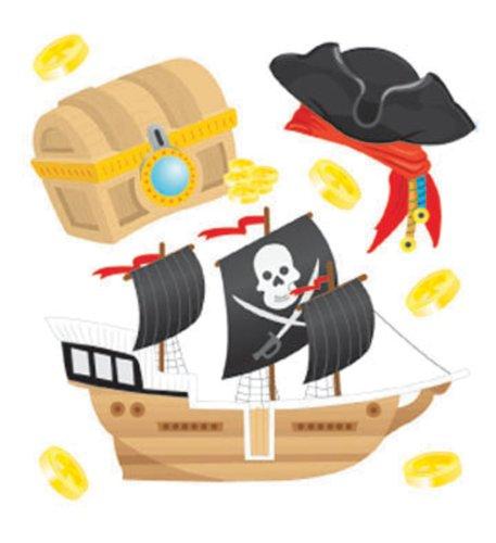 Pirate Boutique - Jolee's Boutique Pirates Treasure Stickers
