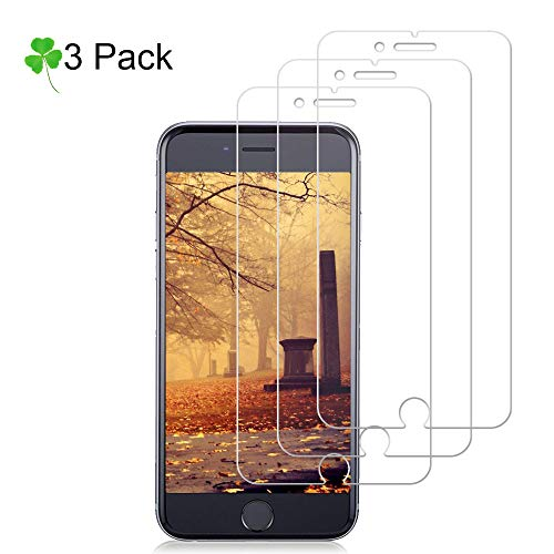 (iPhone 8/7/6/6S [3-Pack] Glass Screen Protector Loopilops Tempered Glass Screen Protector [No Bubbles][9H Hardness] [Anti-Scratch] [Anti-Fingerprint] Compatible with iPhone 8/7/6/6S [4.7 Inch])