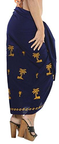 falda del bikini de las mujeres bordadas playa del vestido del traje de baño traje de baño cubrir pareo Amarillo