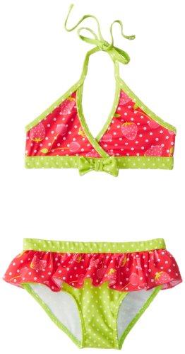 Pink Platinum Little Girls'  Strawberry 2 Piece, Fuchsia, 4T