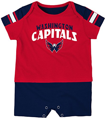 NHL Washington Capitals Boys Newborn & Infant 'Little Brawler' Jersey Romper, Red, 18 Months