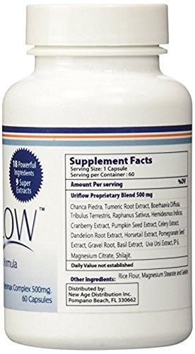 Uriflow Natural Treatment for Kidney Stones 3 - 60 Capsule Bottles