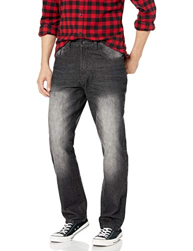 Southpole Men's 6181 Straight Fit Basic Streaky Denim Pants