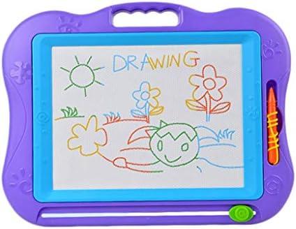大きな磁気製図板、旅行ゲーム用の8色ボトム消去可能な走り書きライティングボード、ピンク (Color : Purple)