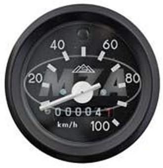 Tachometer Mit Beleuchtung Und Blinkkontrollleuchte Grün Schwarzen Ring ø60mm 100km H S51 S53 S70 Auto