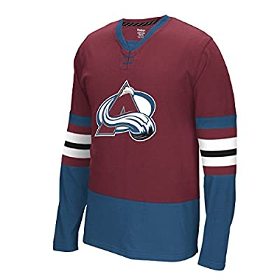 "Colorado Avalanche Reebok NHL ""Face Off"" Long Sleeve Jersey Shirt"