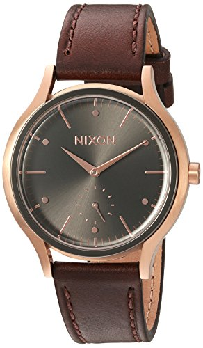 Nixon Women's 'Sala' Quartz Leather Watch, Color:Brown (M...