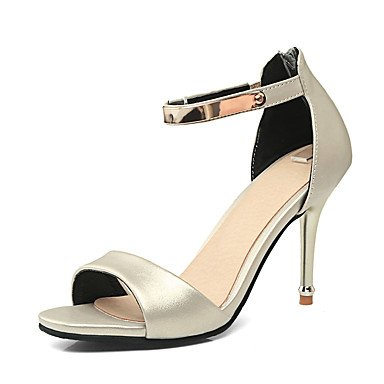 LvYuan Mujer-Tacón Stiletto-Zapatos del club-Sandalias-Oficina y Trabajo Vestido Fiesta y Noche-PU-Negro Rosa Beige Black