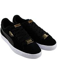 Classic B.Boy Fabulous Mens Black Suede Lace Up Sneakers Shoes