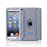 Honeycase Extreme-Duty Military Transformer Hybrid Shockproof & Drop Resistance Anti-slip Soft Silicone Case Cover for iPad Mini (Grey)