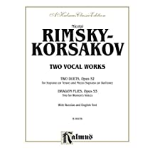Two Vocal Works (Opus 52 and 53): For Soprano or Tenor, Mezzo-Soprano or Baritone and Women's Trio with Russian and English Text (Kalmus Edition)