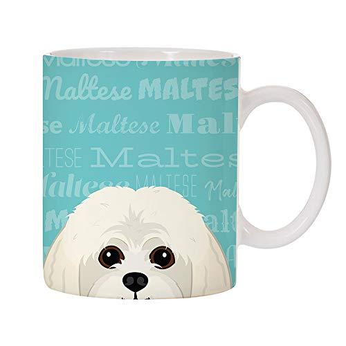 (Adorable Dog Breed Specific 11oz Ceramic Coffee Mug (Maltese))