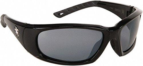 Crews Safety Products FF312AF ForceFlex Ultra-Flexible Regular Safety Glasses w/ Black Thermoplastic Urethane Frame, Gray Polycarbonate Anti-Fog Anti-Scratch Lens &Black Temple Sleeve, 15.34 fl. oz.
