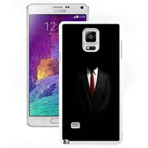 NEW Unique Custom Designed Samsung Galaxy Note 4 N910A N910T N910P N910V N910R4 Phone Case With Mystery Man In Suit_White Phone Case