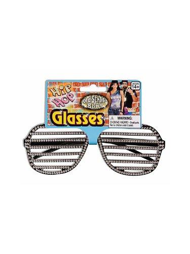 Gangster Rapper Costume (Hip Hop Slot Glasses Rhinestone (Kanye Style))