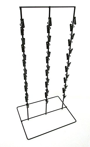 Retails Black Triple Round Strip 6'' Apart 39 Chip Potato Chip Display Rack by Display Rack