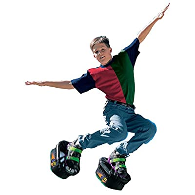 Big Time Toys Moon Shoes Bouncy Shoes - Mini Trampolines For your Feet - One Size, Black, New and improved: Toys & Games