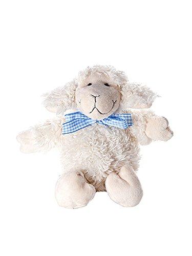 Suave cordero de peluche juguetes blandos de 23 cm con lazo azul ...