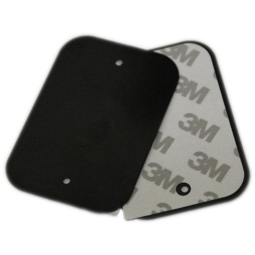 infiniapps Replacement/Spare Metal Plate x2 Pack: 1 Plate with Adhesive, 1 Plate Without Adhesive. Compatible with Other Magnetic mounts