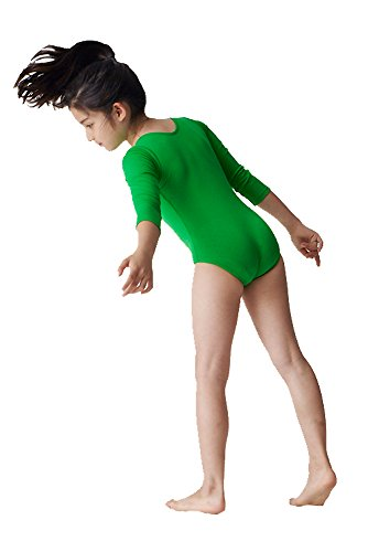 Long Sleeve Kid's Leotard Available in 30 Colors! Kelly Green]()