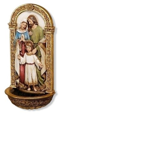 - Vibrant Holy Family Gold Filigree 8 x 4 Inch Decorative Hanging Wall Figurine