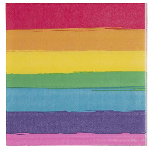 - Cocktail Napkins - 150-Pack Luncheon Napkins, Disposable Paper Napkins Gay Pride Parade Party Supplies, 2-Ply, Rainbow, Unfolded 13 x 13 Inches, Folded 6.5 x 6.5 Inches