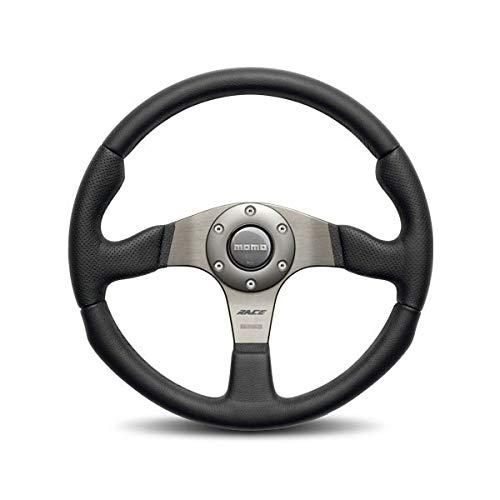 Momo Race Brushed Aluminum 320 mm Diameter Steering Wheel P/N RCE32BK1B