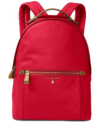 MICHAEL Michael Kors Kelsey Large Nylon Backpack (Bright Red) by Michael Kors