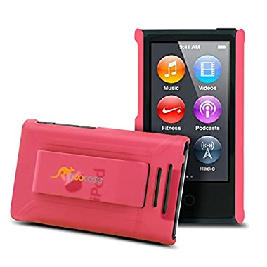rooCase S1-TM Ultra Slim Translucent Matte Shell Case for Apple iPod Nano 7 (7th Generation), Pink