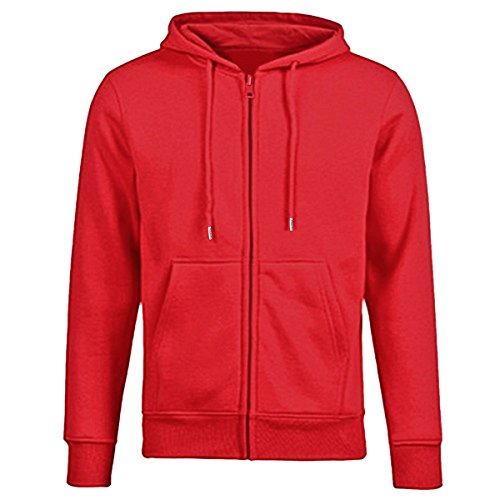 Samtree Women's Drawtring Hoodie Zip Up Sweatshirt Sport Fleece (Red Zipper Sweatshirt)