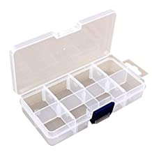 Portable Clear Hard Plastic with Removable Dividers Art Craft Storage Container Jewelry Ring Earring Beads Sewing pills Accessories Storage Organizer Box