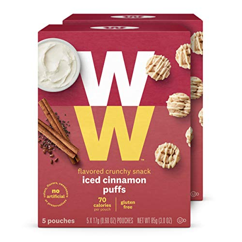 WW Iced Cinnamon Puffs - Gluten-free, 2 SmartPoints - 2 Boxes (10 Count Total) - Weight Watchers Reimagined Cinnamon Chocolate Chip Cookies