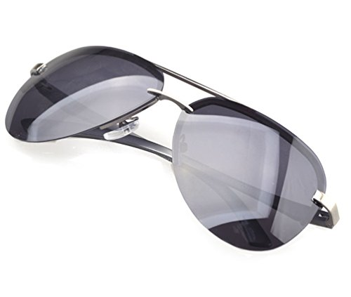 Tansle Mens Oversize Sunglasses Rimless Frame Cool Design TAC ()