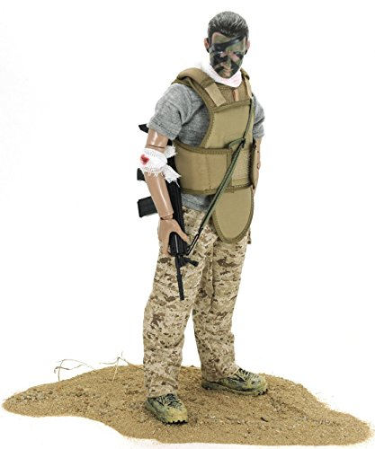 ElekFX Army Toy Soldiers Action Figure 1/6 Model Toy Military Army War Army Men Action ACU Wounded Soldier Combat fit 12