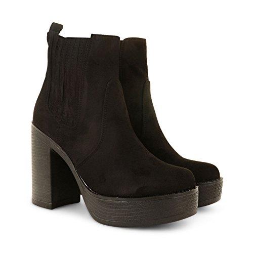 Footwear Sensation - Botas para mujer - PD7-Black Suede