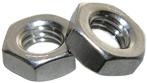 (Stainless Steel thin jam half height Hex Nuts 1/4-20 Qty 25)