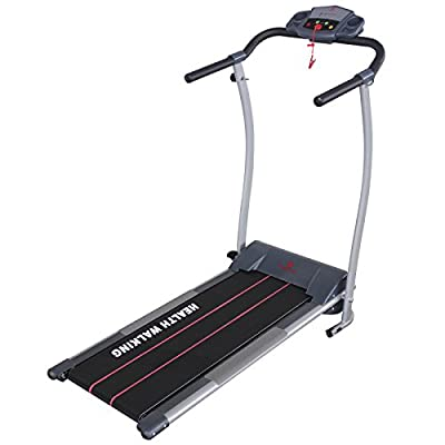 Fitnessclub 500W Fitness Portable Folded Electric Motorized Treadmill Running Machine Black