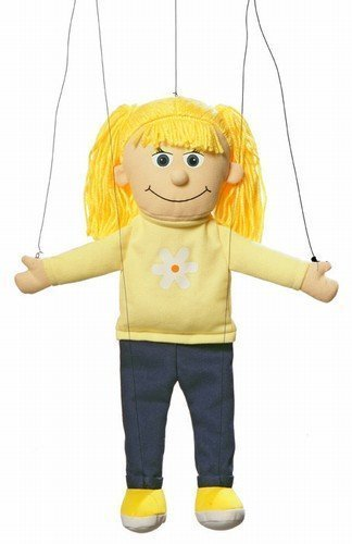 Katie Peach Girl Marionette String Puppet