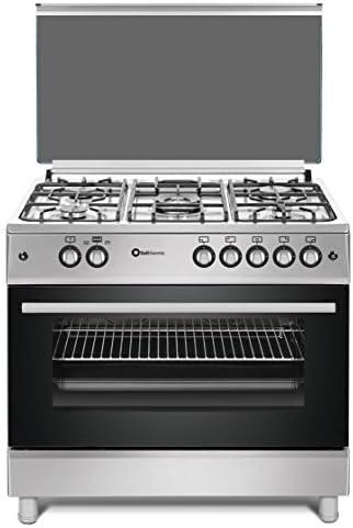 Cocina SolThermic F9L50G2-I PANORÁMICA de color Color INOX compuesta por 5 Quemadores y Horno panoramico: Amazon.es: Hogar