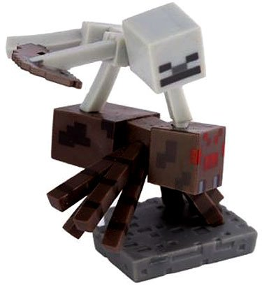 Minecraft Craftables Series 1 Spider Jockey PVC Figure [Loose]