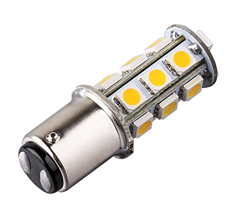 S&D 1142 BA15D 18 SMD 5050 Warm White Tail Turn Signal Auto Car RV Boat Truck Vehicle LED light Bulb Lamp,Compatible with: BA15D 1142 1004 1076 1130 1158 1176 1178 ...(For Reference Only) (Chevy S10 Truck Tail Lamp)