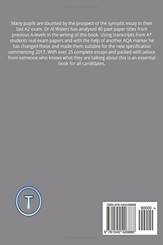 Aqa biology synoptic essays for the new exam starting 2016 amazon aqa biology synoptic essays for the new exam starting 2016 amazon dr al waters books fandeluxe Choice Image